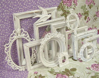 choosing frames in harmony ForEncadrement Shabby Chic