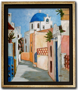 How to frame a canvas painting and choosing the molding color - Peinture facile a reproduire ...