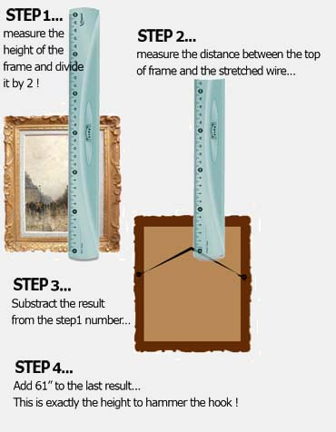 level to hang picture frames, how high to hang art