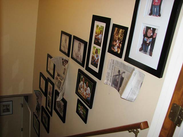 Creating a stairways photo gallery tutorial - Disposition cadre photo mur ...