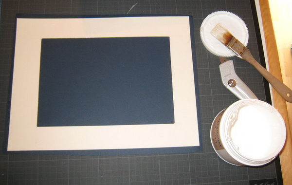 how to frame a drawing : passe-partout mounting