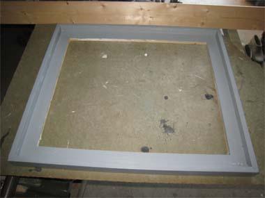 gray floater frame - Diy Floating Frame