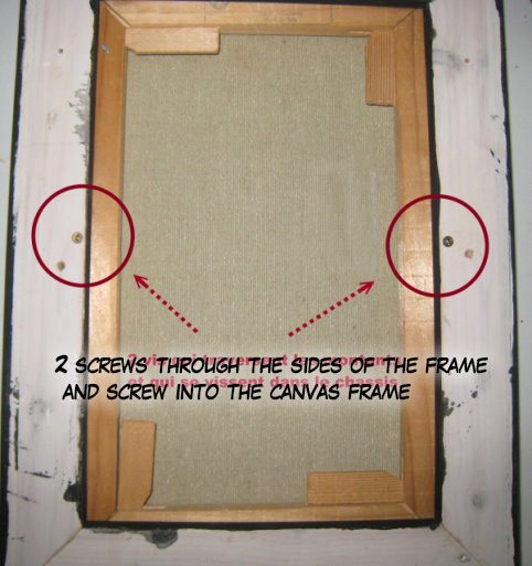 How to fix a picture or a canvas within its frame, fixing the canvas ...