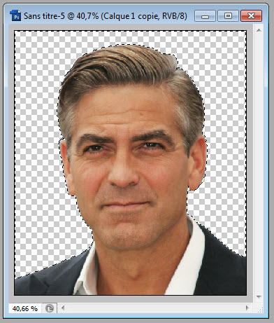 Clipping sihouette George Clooney