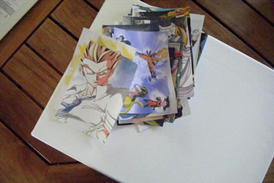 How to decoupage pictures and photos on a canvas photo - Decoupage collage a imprimer ...