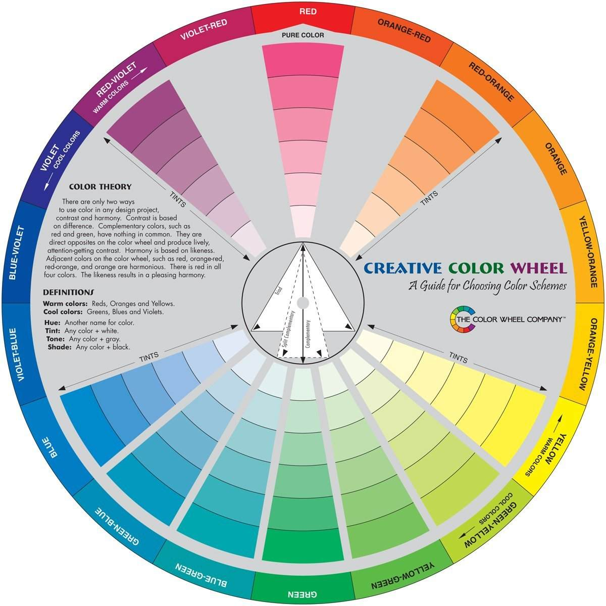 Color Wheel Harmonic Colors And Theory