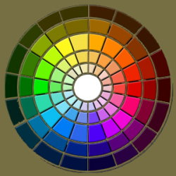 Color wheel harmonic colors and color theory - Cercle couleur complementaire ...